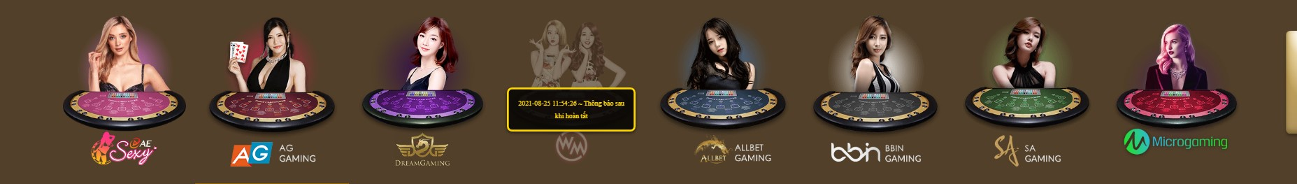 Game bài Casino hấp dẫn tại Galaxy 6623